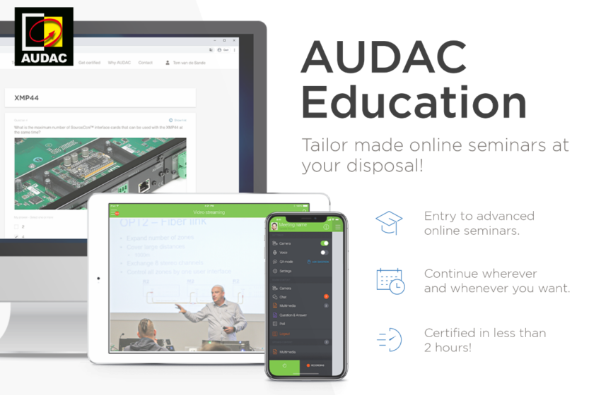 AUDAC lanceert een interactief digitaal onderwijsplatform