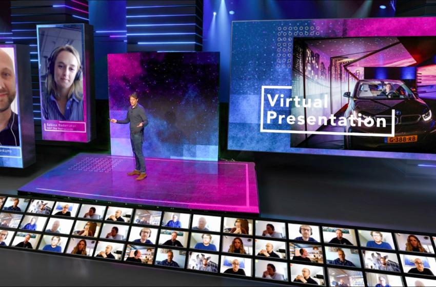 Volledig naar wens aan te passen podium met Interactive Live Audience