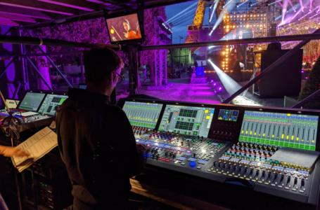 Concert de Paris gemengd met Lawo mc²-consoles voor een tv-publiek van 10 miljoen