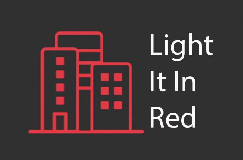 #LightItInRed ondersteunt #WeMakeEvents Red Alert-campagne