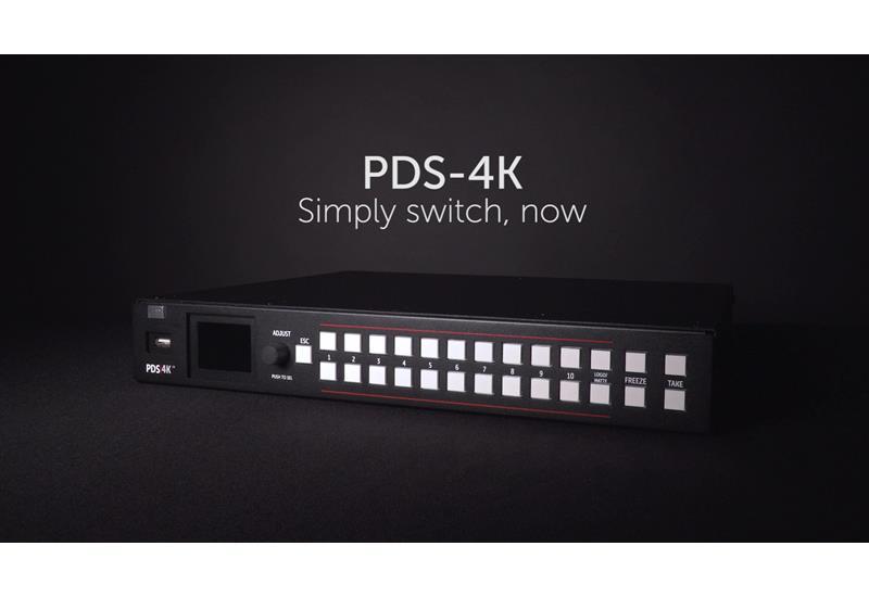 De PDS-4K is klaar voor audio-switching!