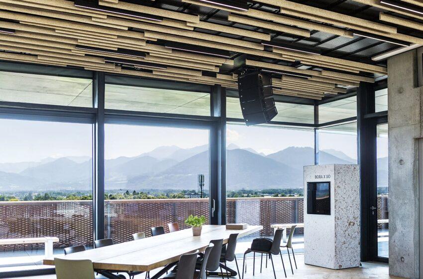 BORA verhuist naar nieuw kantoorgebouw met RCF-systemen voor evenementen en bedrijven