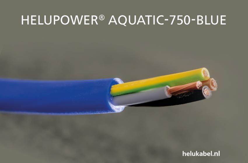 HELUKABEL introduceert nieuwe kabel HELUPOWER AQUATIC-750-BLUE
